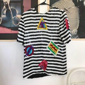 Vintage dress shirt made of sequins